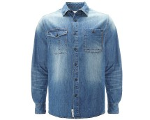 South Dean Street Washed Denim Shirt at Asda