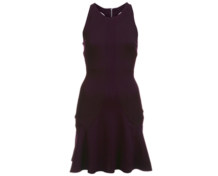 Burgundy Fit and Flare Dress at Miss Selfridge