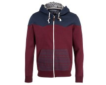 Burgundy Aztec Print Zip Up Hoody at New Look
