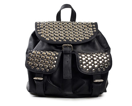 Backpack with Stud Detail at Nelly