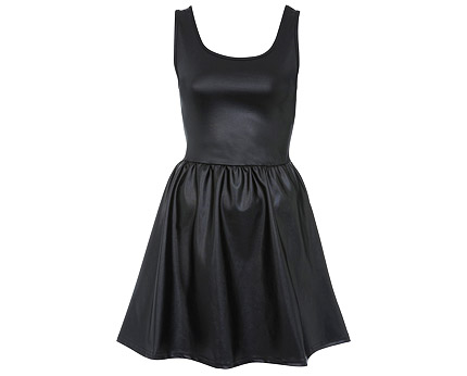 Wet Look Skater Dress at Miss Selfridge