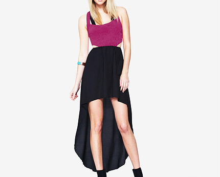 Love Label Cut Out Dip Hem Strappy Dress at Very