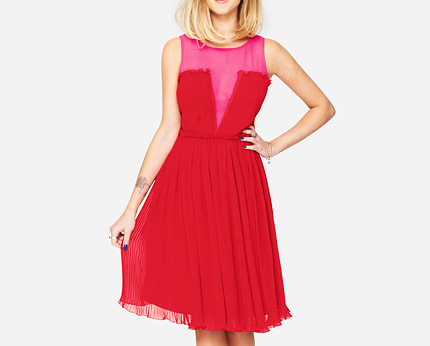Fearne Cotton Pleated Occasion Dress at Very
