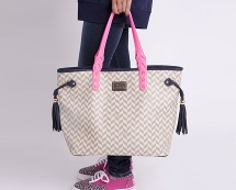 Frankie Chevron Shopper Bag at Pauls Boutique