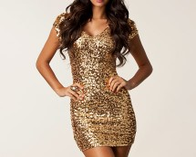 All Over Gold Sequin Bodycon Dress at Nelly