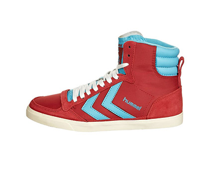 Red Hummel High Tops at Zalando