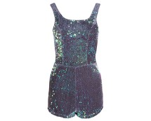 Iridescent Sequin and Mesh Playsuit at Republic