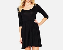 Black Jersey Skater Dress at Littlewoods
