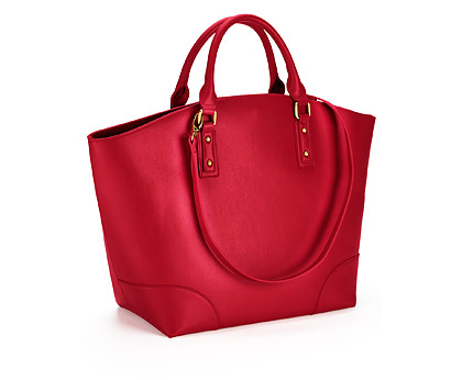 Red Layla Spot Lined Tote Bag at Very