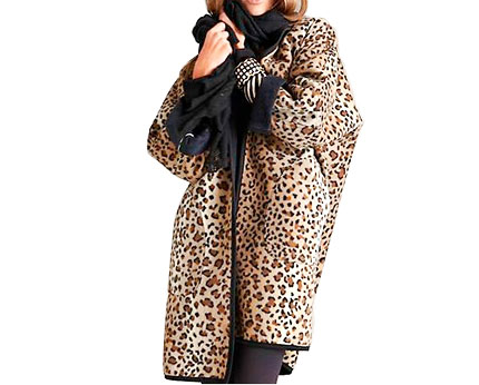 Leopard Print Blanket Coat at Bon Prix