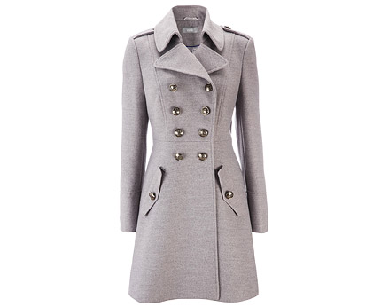 Women's Long Length Military Coat at Wallis