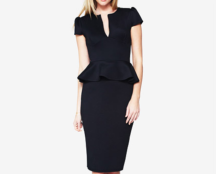 Love Label Peplum Bodycon Midi Dress at Littlewoods