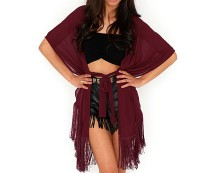 Berry Madisen Fringed Kimono at Missguided