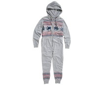 Grey Men's Fairisle Print Onsie at New Look