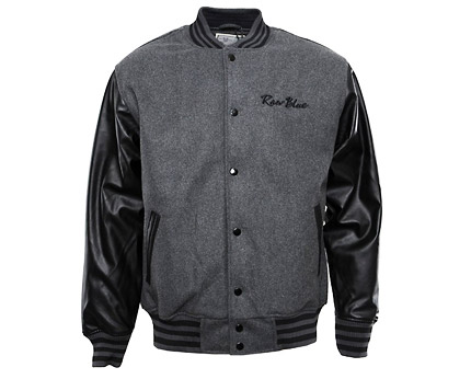 Men's Varsity Jacket with Contrast PU Sleeves at Yukka