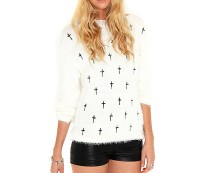 Mohair Jumper with Cross Detail at Missguided