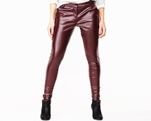 PU Faux Leather Skinny Jeans at Isme