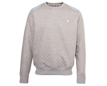 Quilted Elbow Patch Sweater at New Look