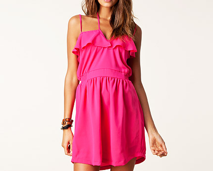 Ruffle Detail Strappy Dress at Nelly