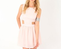 Skater Dress with Cut out Detail at Missguided