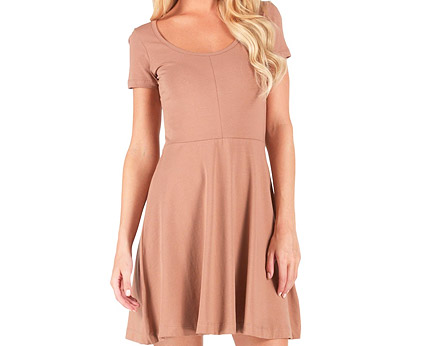 Jersey Skater Style Dress at MandMDirect