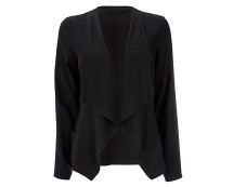 Black Viscose Waterfall Jacket at Wallis