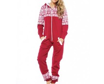 Red Women's Aztec Print Onesie