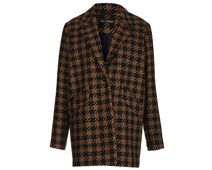 Women's Dogtooth Car Coat at Miss Selfridge