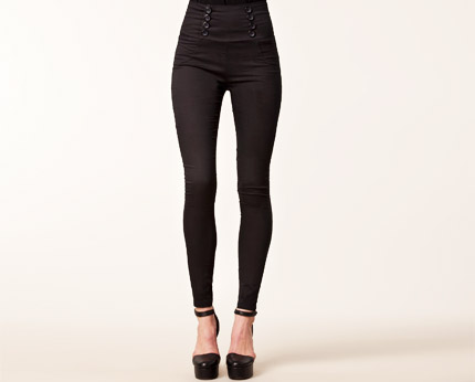 Women's High Waist Skinny Trousers at Nelly