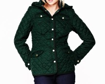 Women's Hooded Quilted Jacket at Isme