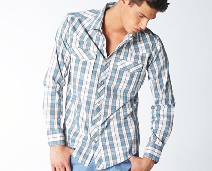 Wyoming Western Style Checked Shirt at La Redoute