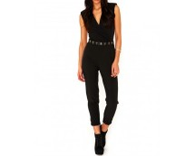 Black Crossover Tailored Jumpsuit at Missguided