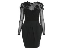 Tulip Dress with Contrast Mesh at Miss Selfridge