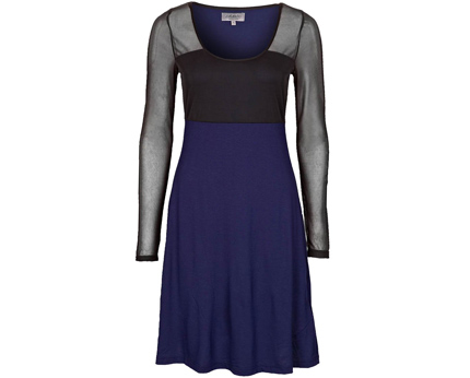 Cocktail Mesh Panelled Jersey Dress