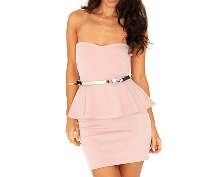Bandeau Peplum at Missguided