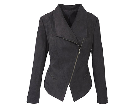 Biker Jacket with Shawl Collar at Bon Prix