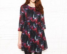 Chiffon Cosmic Print Baby Doll Dress at Urban Outfitters