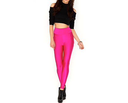 Pink Disco Pants with Pockets at Missguided