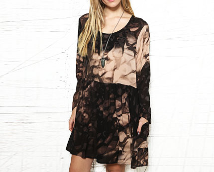Evil Twin Printed Sheer Dress at Urban Outfitters