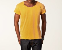 Yellow Jack & Jones Round Neck T-shirt at Nelly