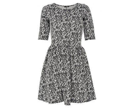Jacquard Print Skater Dress at Quiz