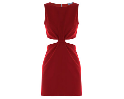 Red Marcella Cut Out Sides Dress at ILWF