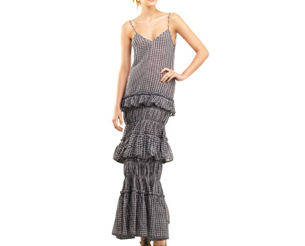 Maxi Tiered Linen Dress at Max Studio
