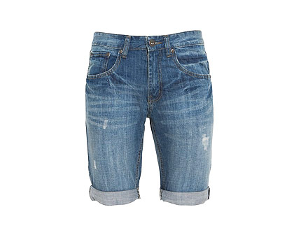 Men's Denim Turn Up Shorts at New Look