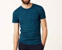 Mens Teal Round Neck Tee at Nelly