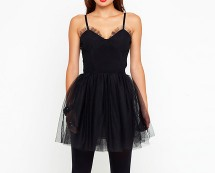Black Mesh Fairy Style Dress at Motel