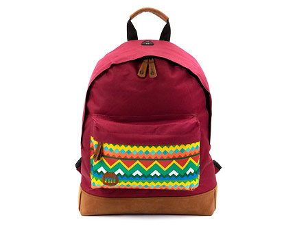 Red Mi-Pac Native Print Backpack at New Look