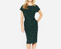 Printed Tunic Dress with Tie Backs and Pockets at K & Co