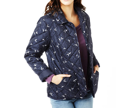 Quilted Jacket with Bird Print at Marks and Spencer