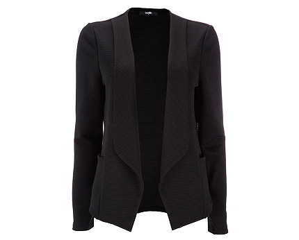 Black Ribbed Jersey Jacket at Wallis